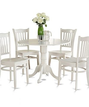 DLGR5 WHI W 5 PC Kitchen Nook Dining Set Table And 4 Kitchen Chairs 0 0 300x360