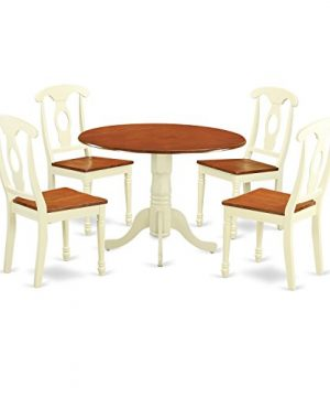 DLKE5 BMK W 5 PC Dining Set Dining Table And 4 Dining Chairs 0 300x360