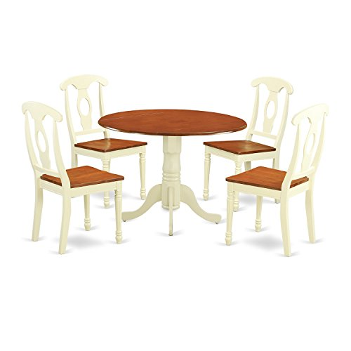 DLKE5 BMK W 5 PC Dining Set Dining Table And 4 Dining Chairs 0