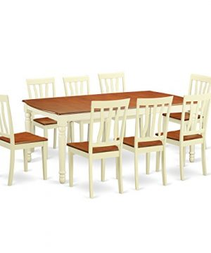 DOAN9 WHI W 9 Pc Dinette Set Dinette Table And 8 Dining Chairs 0 0 300x360