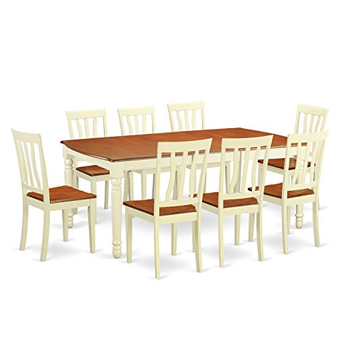 DOAN9 WHI W 9 Pc Dinette Set Dinette Table And 8 Dining Chairs 0 0