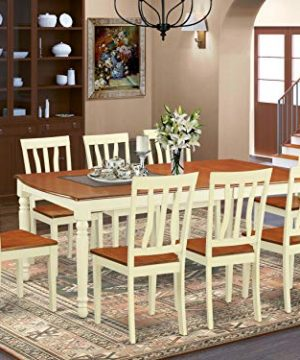 DOAN9 WHI W 9 Pc Dinette Set Dinette Table And 8 Dining Chairs 0 300x360