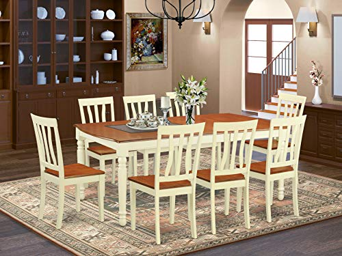 DOAN9 WHI W 9 Pc Dinette Set Dinette Table And 8 Dining Chairs 0