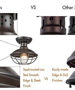 Dazhuan Industrial Vintage Metal Cage Pendant Lighting Semi Flush Mount Ceiling Light Lamp Fixture ORB Hanging Chandelier 0 4 300x360