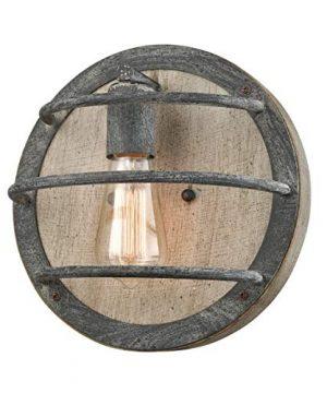Dazhuan Wood Wall Sconces Farmhouse Weathered Oak Flush Mount Wall Lighting Sconce 0 300x360