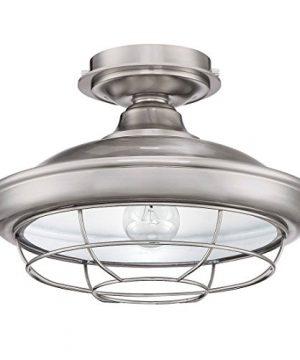Designers Impressions Charleston Satin Nickel Semi Flush Mount Ceiling Light Fixture 10003 0 300x360