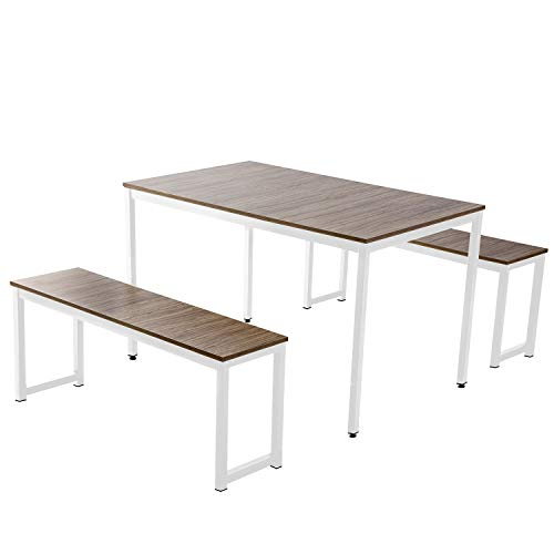 Dining Room Table Set 3 Pieces Farmhouse Kitchen Table
