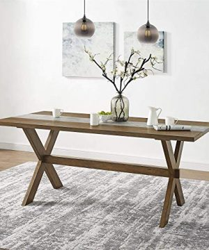 Dorel Living Harlem Dining Table With Faux Concrete Center 0 300x360