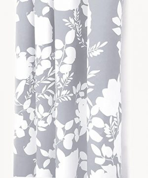 DriftAway Floral Delight Botanic Pattern Room Darkening Thermal Insulated Grommet Unlined Window Curtains Set Of 2 Panels Each 52 Inch By 84 Inch Gray 0 0 300x360