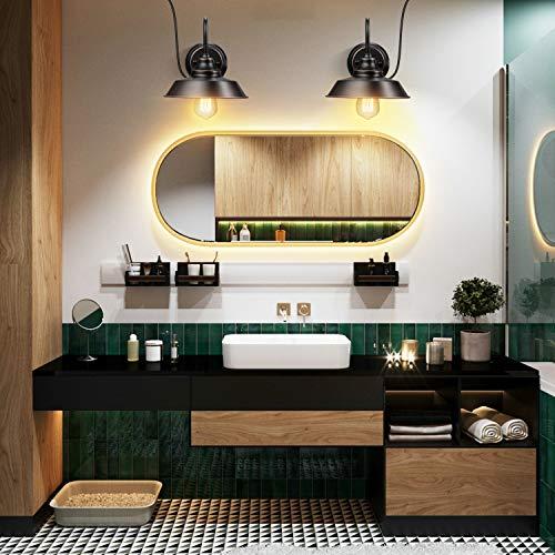 Elibbren Bathroom Vanity Wall Light, Plug In Bathroom Light