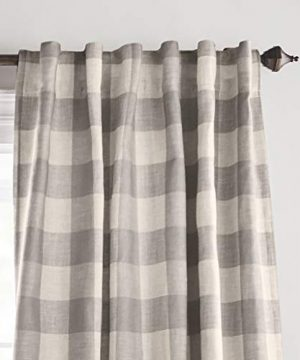 Elrene Home Fashions Grainger Buffalo Check Blackout Window Curtain Panel 52 X 84 1 Gray 0 0 300x360