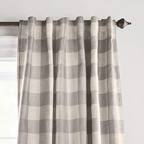 Elrene Home Fashions Grainger Buffalo Check Blackout Window Curtain Panel 52 X 84 1 Gray 0 0