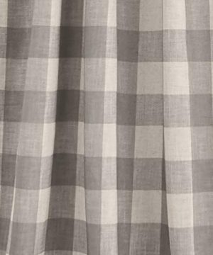 Elrene Home Fashions Grainger Buffalo Check Blackout Window Curtain Panel 52 X 84 1 Gray 0 1 300x360