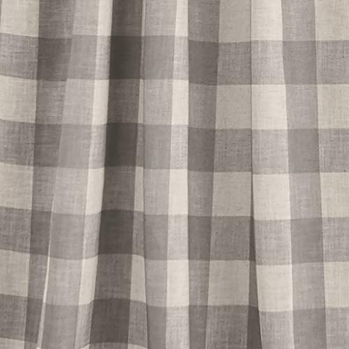 Elrene Home Fashions Grainger Buffalo Check Blackout Window Curtain Panel 52 X 84 1 Gray 0 1