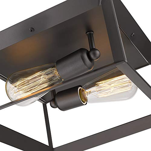 Emliviar 2 Light Ceiling Light 12 Flush Mount Ceiling Lighting Fixture Oil Rubbed Bronze Finish 3040 2 ORB 0 0
