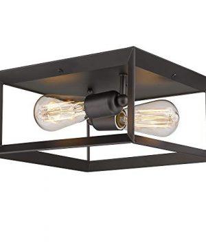 Emliviar 2 Light Ceiling Light 12 Flush Mount Ceiling Lighting Fixture Oil Rubbed Bronze Finish 3040 2 ORB 0 300x360
