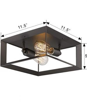 Emliviar 2 Light Ceiling Light 12 Flush Mount Ceiling Lighting Fixture Oil Rubbed Bronze Finish 3040 2 ORB 0 5 300x360