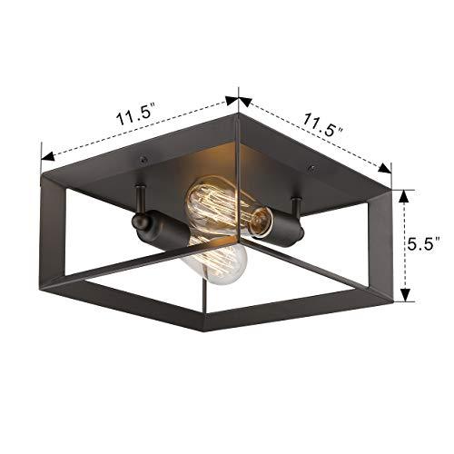 Emliviar 2 Light Ceiling Light 12 Flush Mount Ceiling Lighting Fixture Oil Rubbed Bronze Finish 3040 2 ORB 0 5