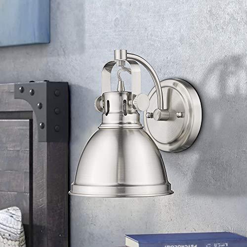 Emliviar Modern Industrial Bathroom Vanity Wall Sconce Light Brushed Nickel Finish With Metal Shade 4053S 0 0