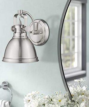 Emliviar Modern Industrial Bathroom Vanity Wall Sconce Light Brushed Nickel Finish With Metal Shade 4053S 0 1 300x360