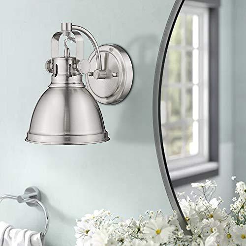 Emliviar Modern Industrial Bathroom Vanity Wall Sconce Light Brushed Nickel Finish With Metal Shade 4053S 0 1