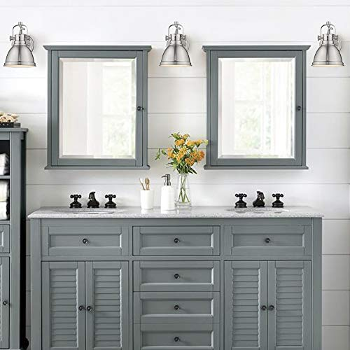 Emliviar Modern Industrial Bathroom Vanity Wall Sconce Light Brushed Nickel Finish With Metal Shade 4053s Farmhouse Goals