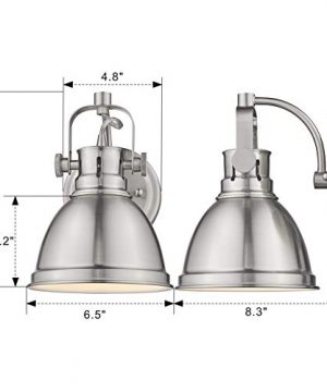 Emliviar Modern Industrial Bathroom Vanity Wall Sconce Light Brushed Nickel Finish With Metal Shade 4053S 0 5 300x360