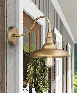 Emliviar Vintage Wall Lighting Fixture 10 Inch Barn Light For Living Room Bedroom Gold Finish 523 AG 0 1 300x360