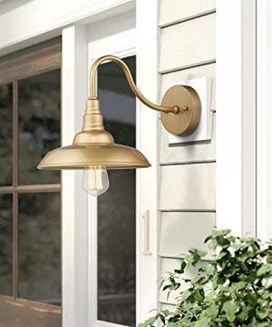 Emliviar Vintage Wall Lighting Fixture 10 Inch Barn Light For Living Room Bedroom Gold Finish 523 AG 0 4 300x360