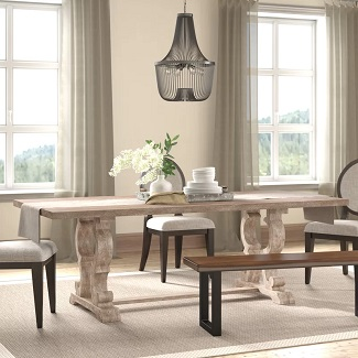 Esita Extendable Solid Wood Dining Table
