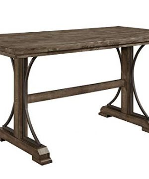 Esofastore Rustic Style Dining Set 6pcs Rectangle Counter Height Table W4 Chairs Bench 0 0 300x360