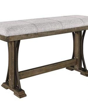 Esofastore Rustic Style Dining Set 6pcs Rectangle Counter Height Table W4 Chairs Bench 0 1 300x360