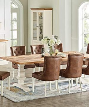Everhome Designs Savannah 7 Piece Rustic Oak Two Tone Extension Dining Table Set Farmhouse Goals
