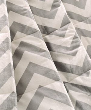 Exclusivo Mezcla Luxury Reversible Quilted Oversized Throw Blanket Soft Cozy And Large Chevron 60x70 0 0 300x360