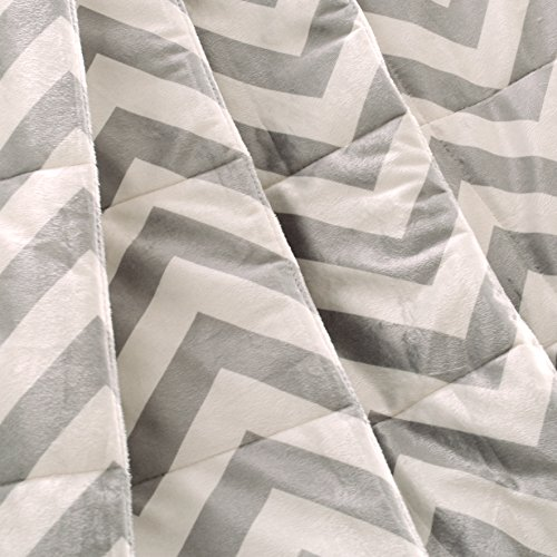 Exclusivo Mezcla Luxury Reversible Quilted Oversized Throw Blanket Soft Cozy And Large Chevron 60x70 0 0