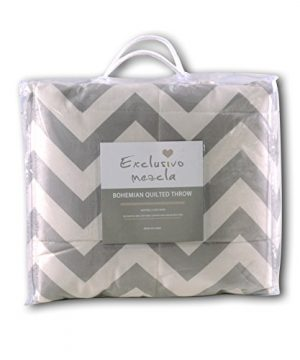 Exclusivo Mezcla Luxury Reversible Quilted Oversized Throw Blanket Soft Cozy And Large Chevron 60x70 0 5 300x360