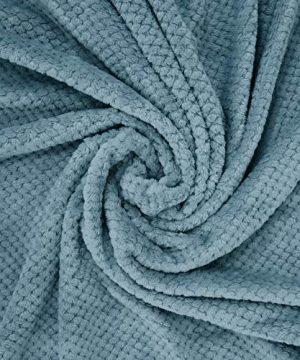 Exclusivo Mezcla Waffle Flannel Fleece Velvet Plush Large Throw Blanket 50 X 70 Slate Blue 0 1 300x360