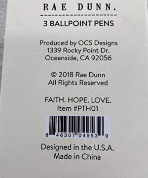 Faith Hope Love Set Of 3 Ballpoint Pen Set By Rae Dunn 0 1 300x360