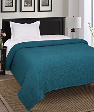Farmhouse Cotton Thermal Blanket In Waffle Weave 90x90Full Queen TealSnuggle Super Soft BlanketBreathable Cozy Cotton BlanketsFull Queen BlanketNavy BlanketLight Thermal BlanketSoft Blanket 0 0 300x360