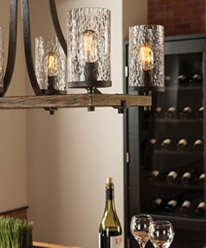 Feiss WB1825DWKSGM Angelo Glass Wall Sconce Lighting Iron 1 Light 6W X 13H 60watts 0 0 300x360