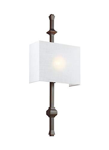 Feiss WB1860ANBZ Teva Wall Sconce Lighting Bronze 1 Light 12W X 30H 60watts 0