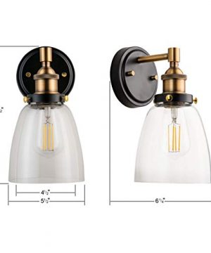 Fiorentino LED Industrial Wall Sconce Antique Brass WClear Glass Linea Di Liara LL WL582 AB 0 1 300x360