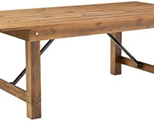 Flash Furniture HERCULES Series 7 X 40 Antique Rustic Solid Pine Folding Farm Table 0 300x235