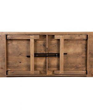 Flash Furniture HERCULES Series 8 X 40 Rectangular Antique Rustic Solid Pine Folding Farm Table 0 1 300x360
