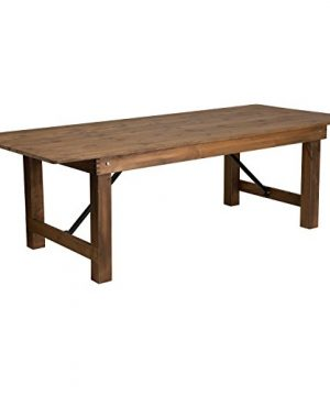 Flash Furniture HERCULES Series 8 X 40 Rectangular Antique Rustic Solid Pine Folding Farm Table 0 300x360