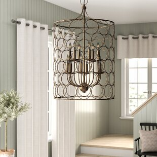 Flores+12+-+Light+Candle+Style+Drum+Chandelier