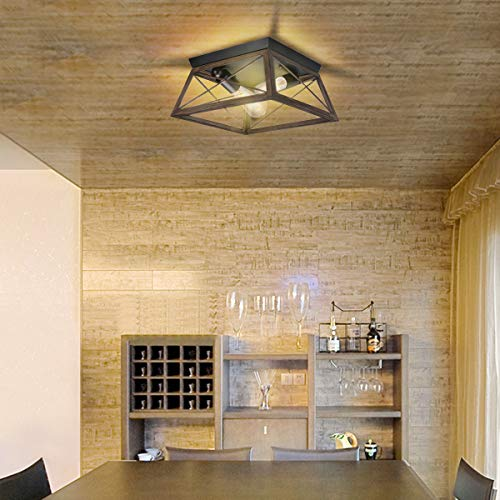 Flush Mount Ceiling Light Kingso Farmhouse Light Fixture With Ul Listed Kitchen Light Fixtures Ceiling For Dining Room Farmhouse Goals