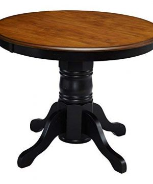 French Countryside BlackOak 42 Round Pedestal Dining Table With 4 Chairs By Home Styles 0 3 300x360