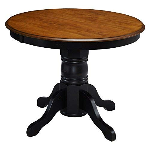 French Countryside BlackOak 42 Round Pedestal Dining Table With 4 Chairs By Home Styles 0 3