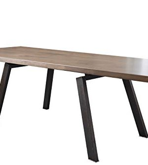 Fulton Modern Rustic Industrial Dining Table 120 L X 37 W Barn Wood Finish 0 300x333